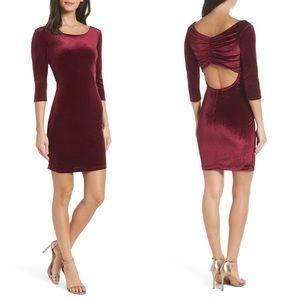 Sequin Hearts Glitter Velvet Body-Con Sheath Dress